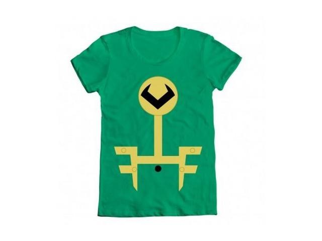 Marvel Loki Kawaii Minimal Kid Loki Symbol Juniors Green T Shirt
