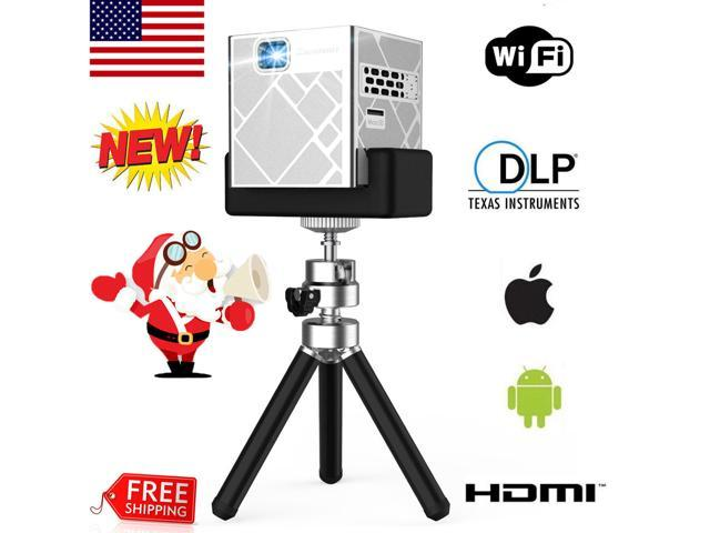 5000Lumens DLP Android Wifi Wireless HD Mini Projector Battery Home Theater  HDMI - Newegg com