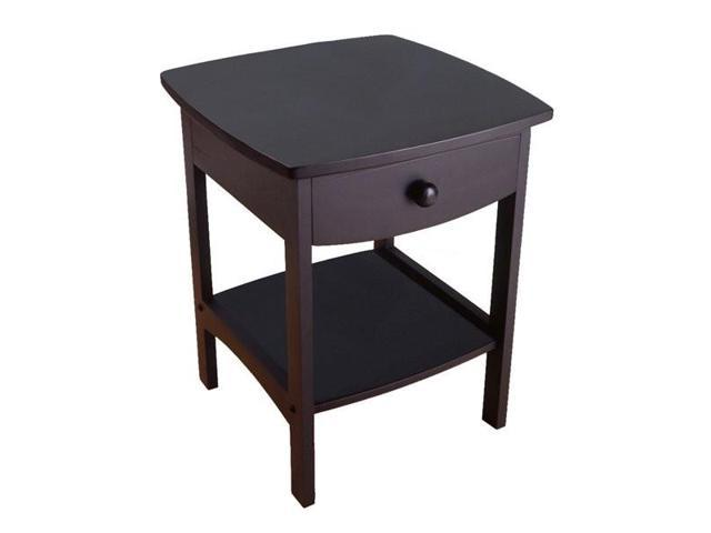 Merveilleux Winsome Wood 20218   Curved End Table/Night Stand   20218 ,Black