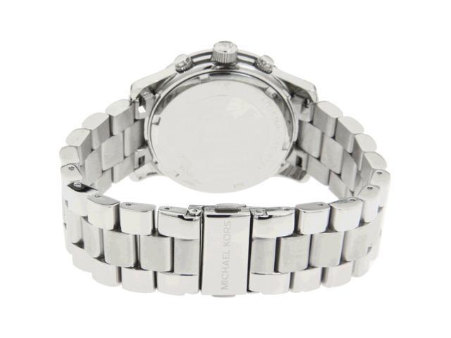cdd4b187731 Michael Kors Silver Midsized Chrono Ladies Watch MK5076 ...