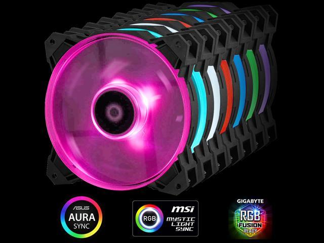 3pcs Pack with RGB Splitter wire  ID-COOLING SF-12025-RGB RGB Sync with  Asus/MSI/Gigabyte motherboards, High Static Pressure, Big Airflow 120mm PWM