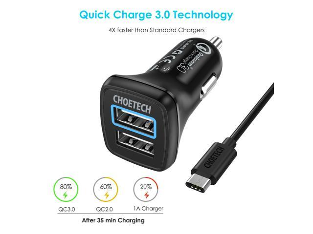 Choetech Car Charger 30w Dual Usb For Le Iphone Xr Xs Max X