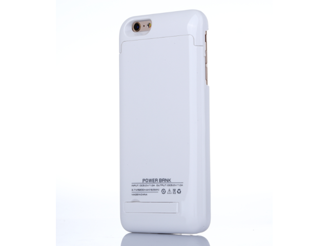 buy online 0759d b114b iPhone 6 Plus (5.5 Inch) Rechargeable Battery Case, 5200mAh Slim Backup  Portable Exteranl Power Bank Charger Case Battery Pack Case with Pop-out ...