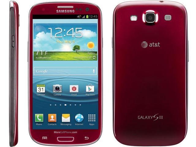 samsung galaxy s3 i747 red 16gb 4g lte white at t cell phone 4 8 rh newegg com Samsung Galaxy S3 Battery Samsung Galaxy 3 Phone Manual