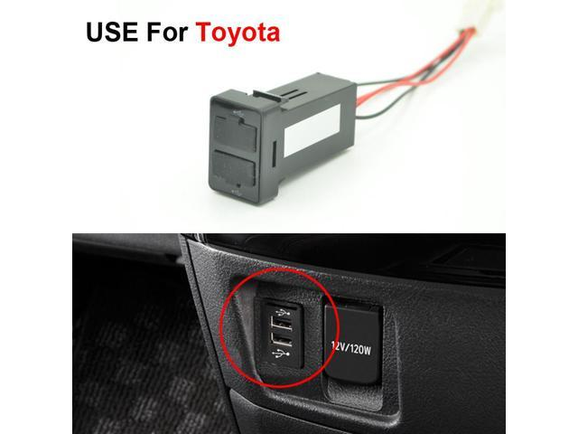 Car Original Position Dual Usb Port Socket Auto Adapter Charger For Lexus Toyota Corolla Camry