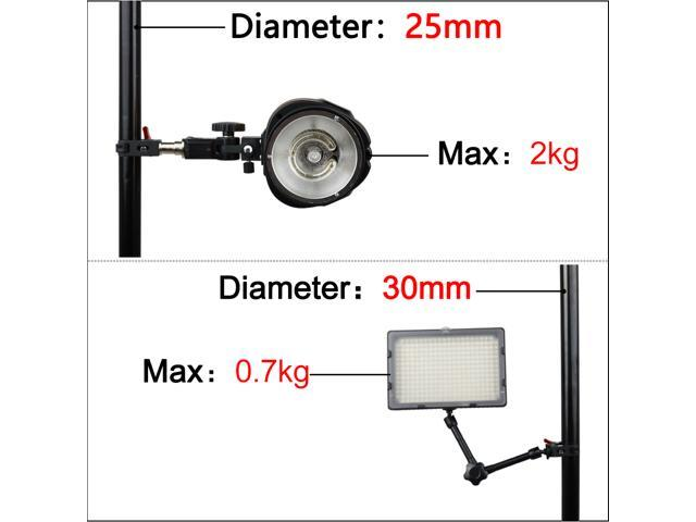 Fomito Super Clamp Mount X1 with 1//4 to 1//4 inch and 1//4 to 3//8 inch Screw Converter