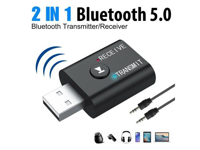 USB Bluetooth 5.0 Transmitter Receiver 2 in 1 EDR Adapter for TV PC Headphones 2 in 1 Adapter