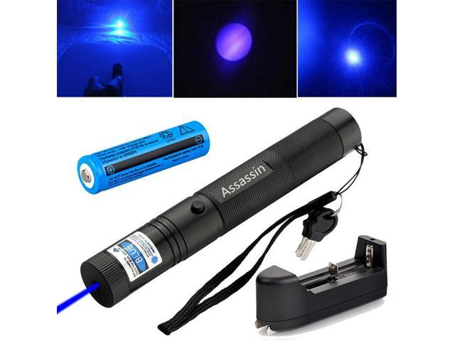 900Mile Red Laser Pointer Pen Lazer Rechargeable 650nm Star Beam+Charger+Battery