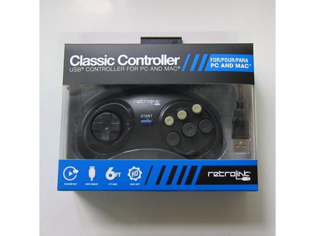 New Retrolink Sega Genesis for to PC Mac USB Classic Controller Gamepad 6  Button - Newegg com