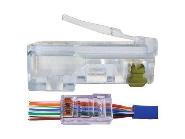 500 Pcs CAT6 Plug EZ RJ45 Network Cable Modular 8P8C Connector End Pass Through