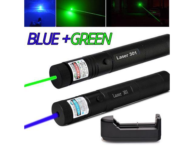 5mW 405nm Blue Purple Laser Pointer Visible Beam Pen 18650 Battery Rechargeable