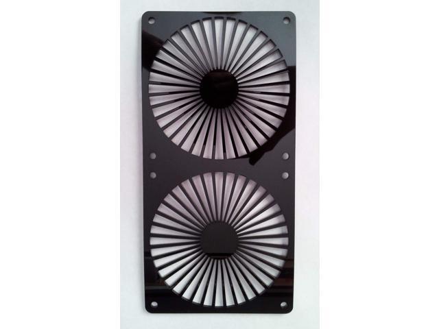 Custom 80mm TURBINE Computer Fan Grill Gloss Black Acrylic Cooling Cover Mod