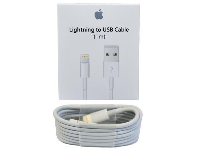 online retailer 5c3a9 bee8c 1M OEM Original Genuine Apple iPhone7 6S Plus iPhone 5S Lightning Charger  Cable - Newegg.com