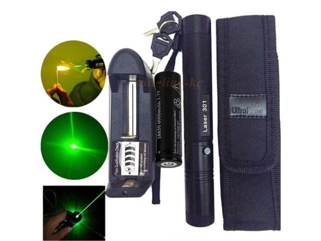 1MW 532NM Red Laser Pointer Pen Militar Burning Beam Light USB Charge 20 Miles
