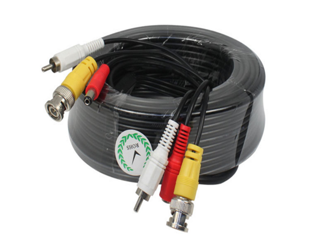 2x100ft Security Camera RCA Video Power Cable DVR CCTV Surveillance Wire Cord