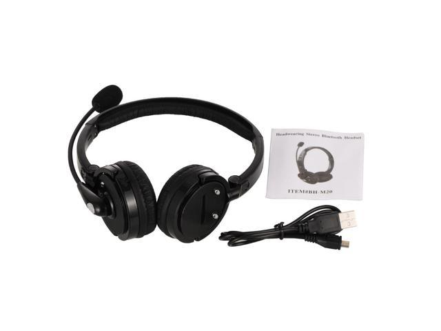 Over The Head Bluetooth Stereo Wireless Headphones Gaming Headset With Boom Mic Newegg Com