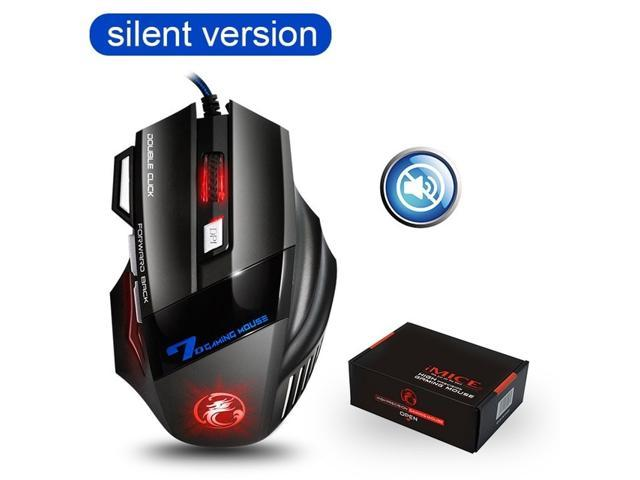 Keyboard /& Mice Products Black Color : Black Computer Products V9 USB 7 Buttons 4000 DPI Wired Optical Colorful Backlight Gaming Mouse for Computer PC Laptop
