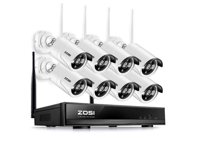 ZOSI FULL HD 1080P Wireless Security Camera System 8CH 1080P Wireless  Surveillance NVR Systems and (8) HD 2 0 Megapixel 1920x1080 WIFI Indoor  Outdoor