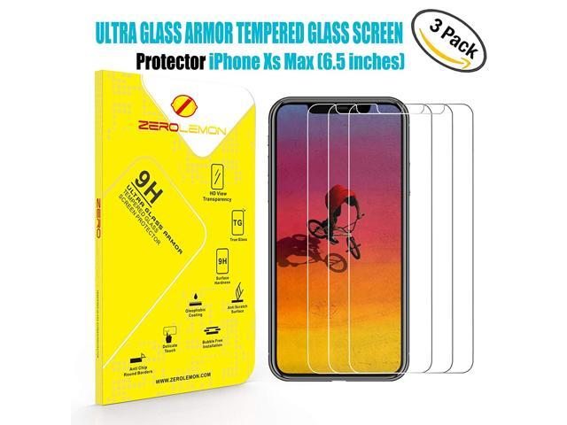 reputable site 300f7 b0b82 iPhone Xs Max Screen Protector, ZeroLemon 6.5inch Tempered Glass Film for  OLED Display, 3 Pack - Newegg.com