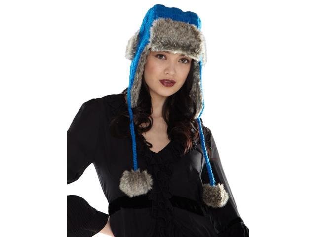 d8bf7d5d2d0 SIJJL s trapper hat with faux fur pom poms-blue-one size - Newegg.com