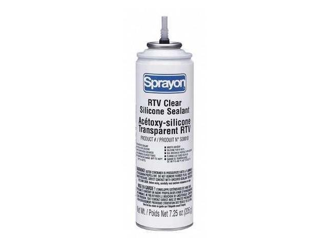 Sprayon - S00010000 - Mildew and Water Resistant RTV Silicone Sealant, 80 -  450 Degrees F Temp  Range, Clear, 8 oz  - Newegg com