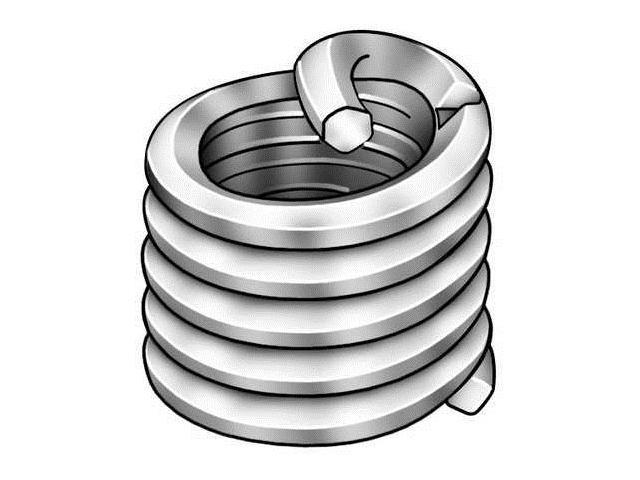 HELI-COIL AT1185-02C129 Helical Insert,2-56x0.129 L,PK100