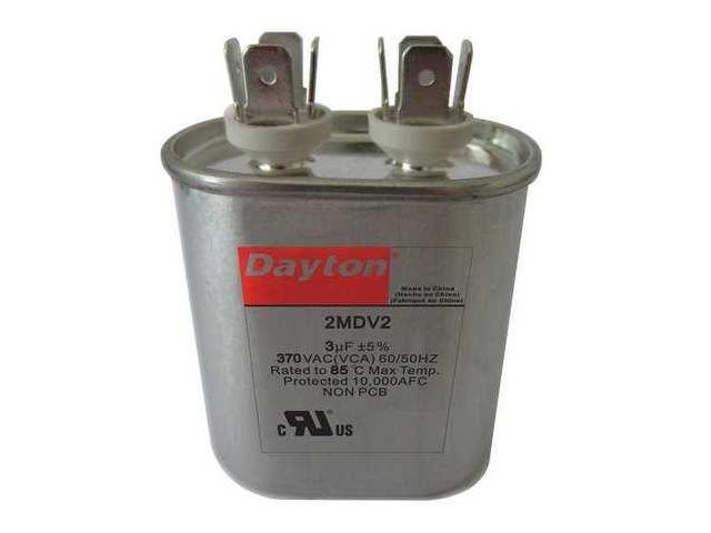DAYTON 2MEF7 Motor Dual Run Cap,50//7.5 MFD,370V,Round