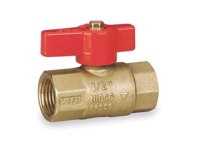 "NIBCO GB2A 1//2/"" FNPT Brass Gas Ball Valve Inline"