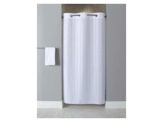 Shower CurtainWhite74 In L42 W HOOKLESS HBH43LIT01SX