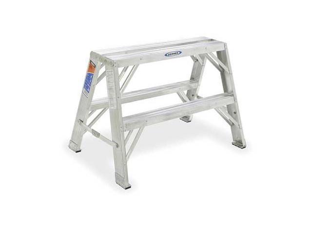 Incredible 2 Steps Aluminum Step Stand 300 Lb Load Capacity Gray Werner Tw372 30 Newegg Com Creativecarmelina Interior Chair Design Creativecarmelinacom