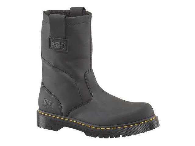 MARTENS 2295W1661 Work Boots,9,Medium,Pull On,Black,PR DR