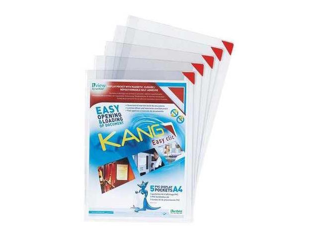 TARIFOLD P20061 Sign Holder,Clear,Adhesive,PK10