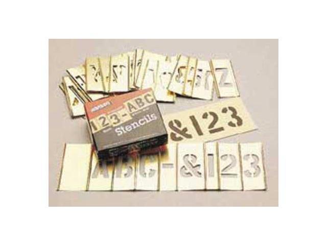 C.H HANSON 10156 Stencil Set,Letters /& Numbers,Brass