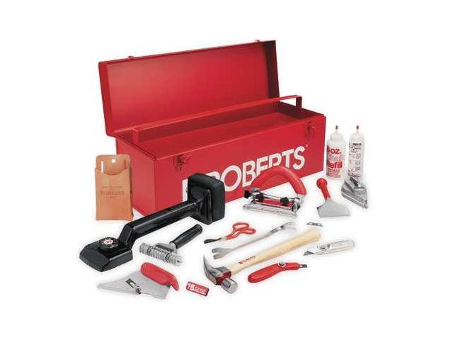 ROBERTS 10-750 Carpet Installation Kit W/24 In Tool Box