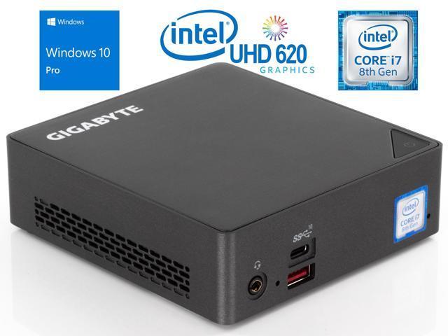 GIGABYTE BRIX Mini PC, Intel Quad-Core i7-8550U Upto 4 0GHz, 32GB RAM, 2TB  NVMe SSD, HDMI, Mini DisplayPort, USB-C, LAN, Wi-Fi, Bluetooth, Windows 10