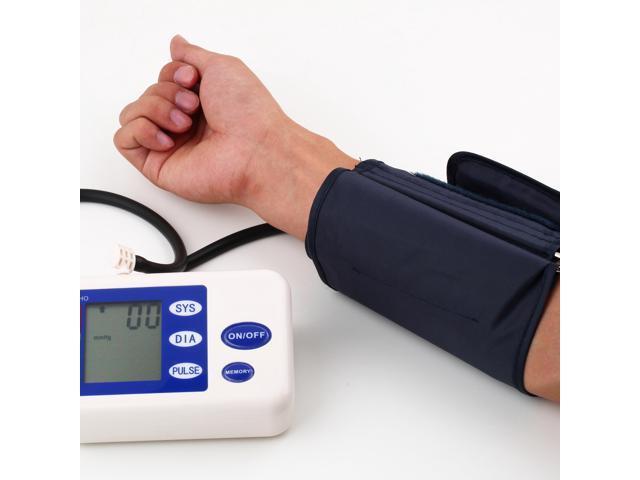 Digital Arm Blood Pressure Upper Automatic Monitor Heart Beat Meter LCD Screen