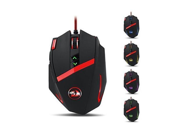 9 Progra Redragon M801 Mammoth 16400 DPI Programmable Laser Gaming Mouse for PC