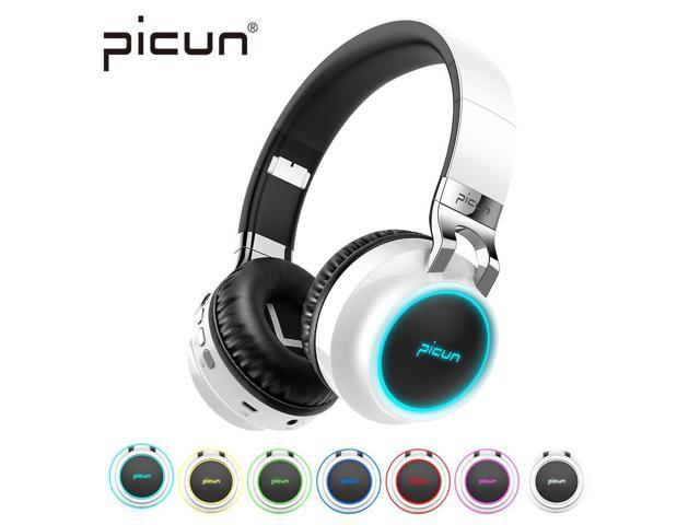Picun P60 Wireless Gaming Headset Bluetooth Headphones Support 7 Colors Glowing Headphone With Mic For Running For Phone Pc Mp3 Newegg Com