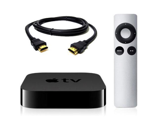Refurbished: Apple TV 1080p HD programming, including iTunes movies and TV  shows, Netflix, Vimeo, photos and more in HD MD199LL/A + HDMI and Remote