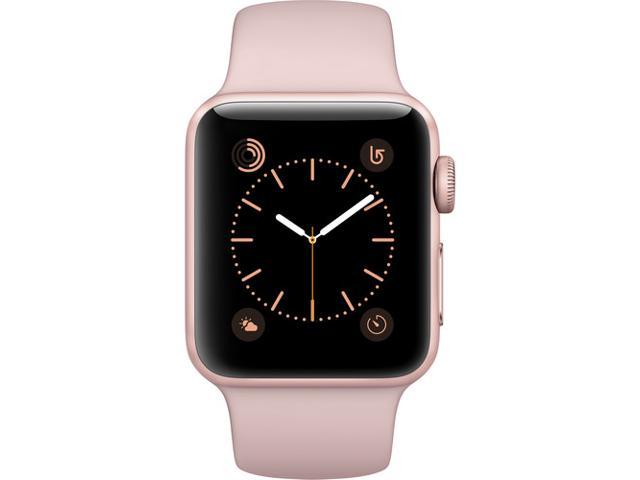 half off c20a0 cc321 Refurbished: Apple Watch Series 2 38mm Smartwatch Rose Gold Aluminum Case  Pink Sand Sport Band (Gen 2) MNNY2LL/A - Newegg.com