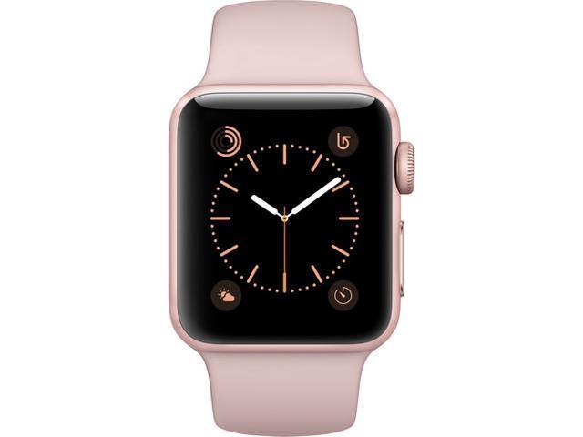 half off 5c946 401c8 Refurbished: Apple Watch Series 2 38mm Smartwatch Rose Gold Aluminum Case  Pink Sand Sport Band (Gen 2) MNNY2LL/A - Newegg.com