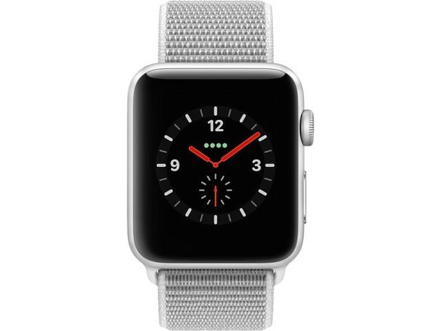 on sale 2955c c9a22 Refurbished: Apple Watch Series 3 42mm Silver Aluminium Case Seashell Sport  Loop GPS + Cellular MQK52LL/A - Newegg.com
