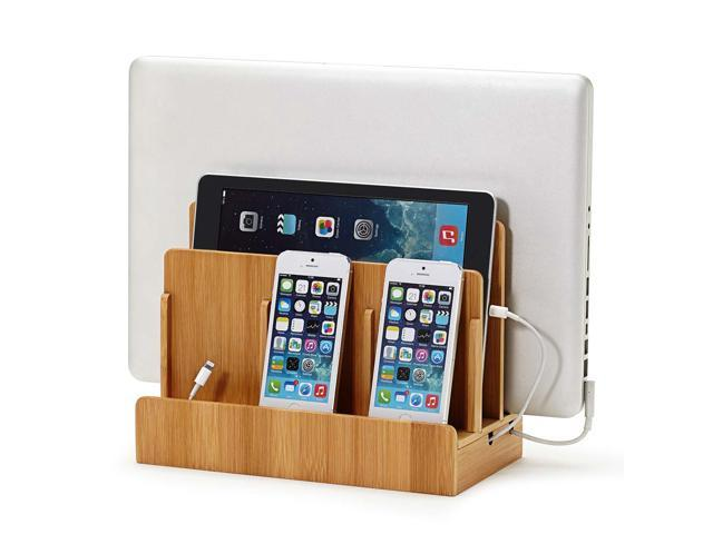 """/""""Cottage Collection/"""" Corner Multi-Device Charging and Sunglass Station Valet"""