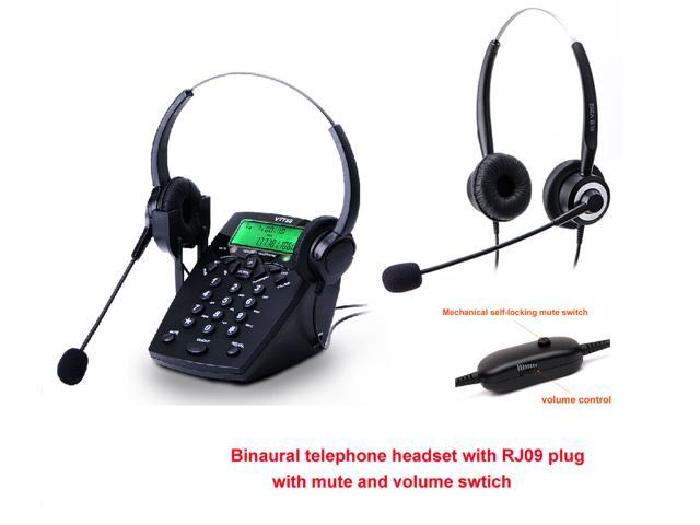 Caller Id Phone Call Center Headset Telephone With Binaural Telephone Headset Mute Function Headset Noise Cancelling Newegg Com