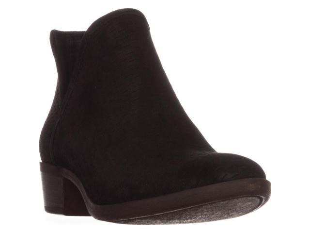 443f7edc9 Lucky Brand Baley Pull On Ankle Boots, Black, 8.5 US / 38.5 EU ...