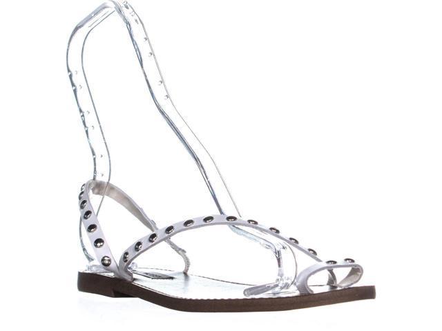 2e82c048831 Steve Madden Daria Slip On Strappy Flat Sandals, White, 7 US - Newegg.com