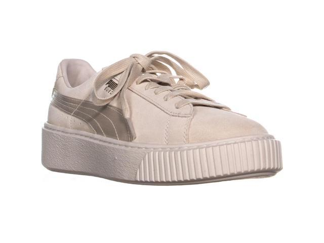 low priced cdaf5 395bf Puma Suede Platform Lace-Up Sneakers, Pink Tint/Whipser White/Gold, 10 US /  41 EU - Newegg.com