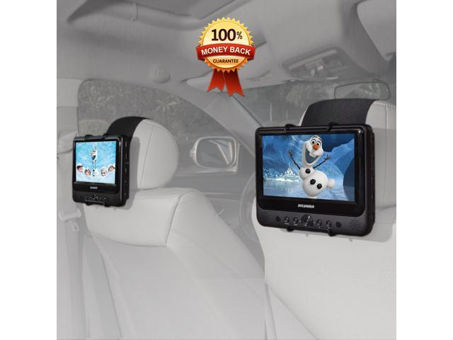 TFY Car Headrest Mount Holder For SYLVANIA SDVD9805 Portable DVD Player Also Fit All 7