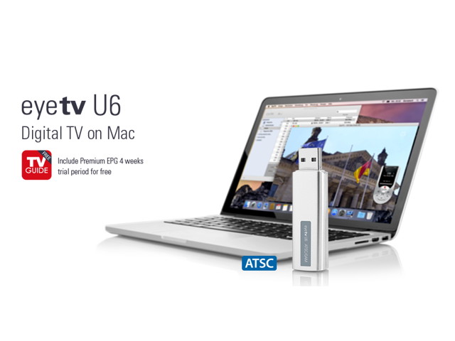 EyeTV U6 Pocket-Sized HDTV Tuner Stick for Apple Macbook Series - Newegg com
