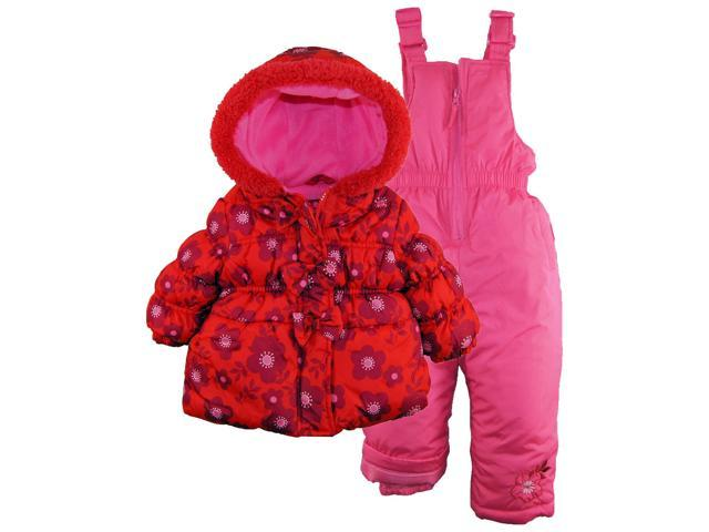 d5c852360 Pink Platinum Baby Girls Snowboard Bubble Jacket and Snowpants ...